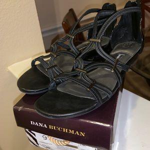 Dana Buchman Black Sandals Like NEW